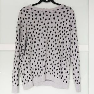 H&M black and grey spotted sweater
